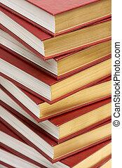 livres, pile, joli