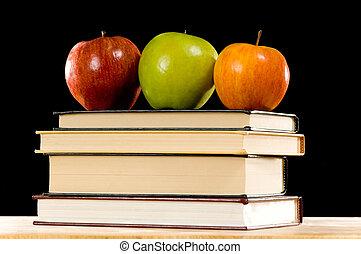 livres, pommes
