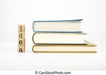 livres, rédaction, idée