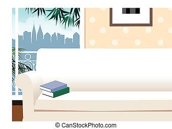 livres, sofa