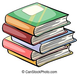 livres, tas