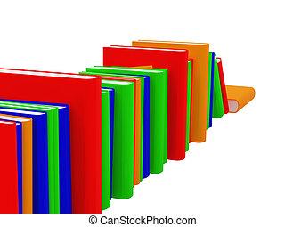 livres, une, ensemble