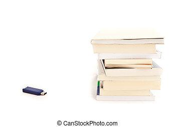 livres, -, usb, mémoire