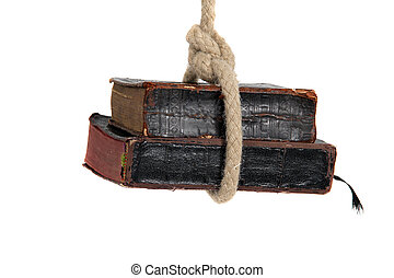 livres, vieux, capturé