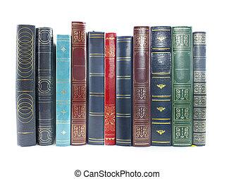 livres, vieux, collection