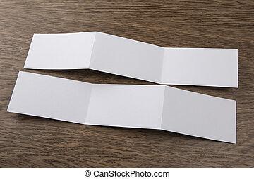 livret, blanc, mockup
