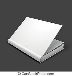 livreto, mockup., livro branco, caderno, texto, ou