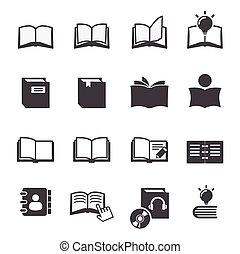livro, ícone