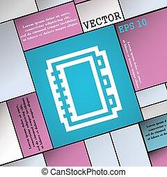 livro, ícone, sinal., modernos, apartamento, estilo, para, seu, design., vetorial