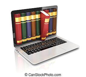 livro, 3d, conceito, -, livro, instead, de, d
