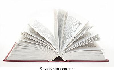 livro, aberta