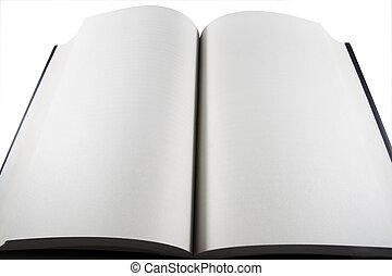 livro aberto, em branco