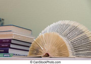 livro aberto, -, literatura