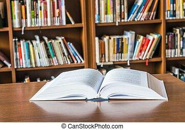 livro aberto, tabela