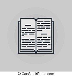 livro, abertos, coloridos, ícone