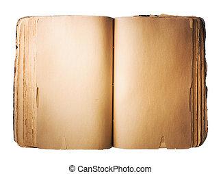 livro, antigas, em branco