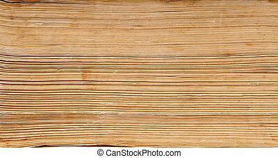 livro, antigas, espinha, macro, dobrado, pilha, fundo, papel, páginas