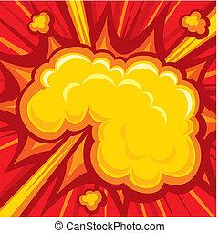 livro cômico, explosão
