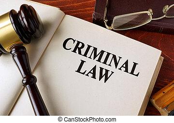 livro, com, título, criminal, lei