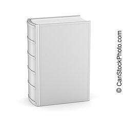 livro, com, vazio, cobertura, branco