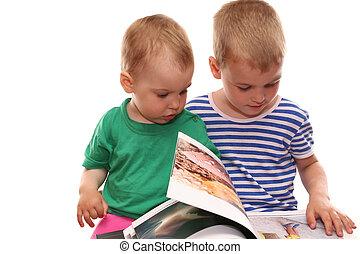 livro, crianças