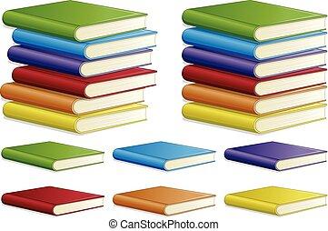 livro, diferente, jogo, cor