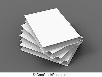 livro duro tampa, modelo, em branco