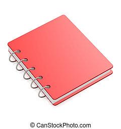 livro duro tampa, vermelho