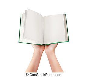 livro, em, a, mãos, de, mulheres