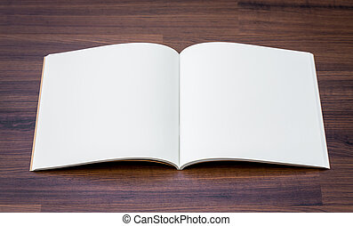 livro, escarneça, cima, catálogo, madeira, fundo, em branco...
