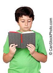 livro, estudante, criança