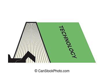 livro, ilustração, caule