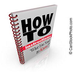 livro instrução, como, fazer, aquilo, você mesmo, manual