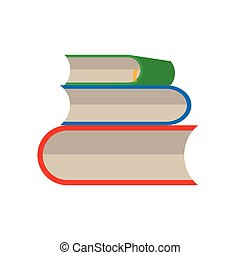 livro, jogo, vetorial, branco, fundo