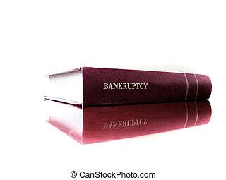 livro lei, ligado, falência