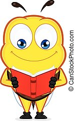 livro leitura, abelha