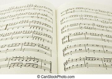 livro, música