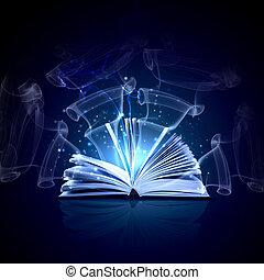 livro, magia