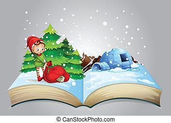 livro, natal