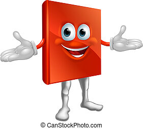 livro, personagem, educação, mascote