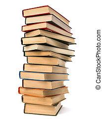 livro, pilha