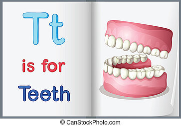 livro quadro, dentes