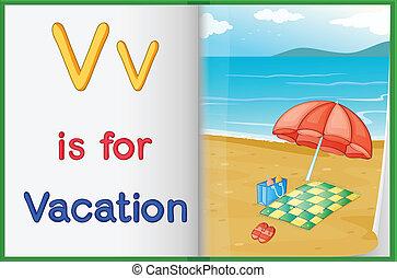 livro quadro, férias