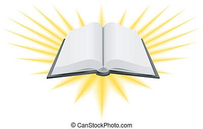 livro, santissimo, ilustração