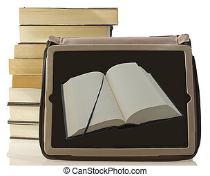 livro, tabuleta