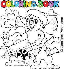 livro, tema, coloração, 3, valentine