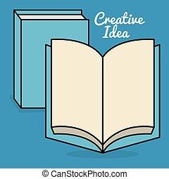 livro texto, idéias, criativo