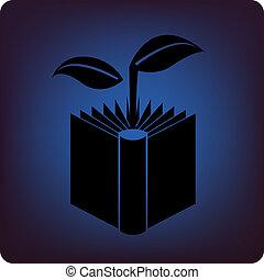 livro, verde
