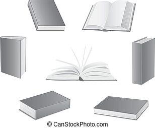 livro, vetorial, ilustrações