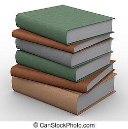 livros, 3d
